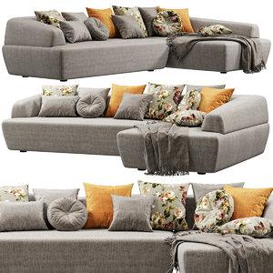 3D minimomassimo italo sofa model