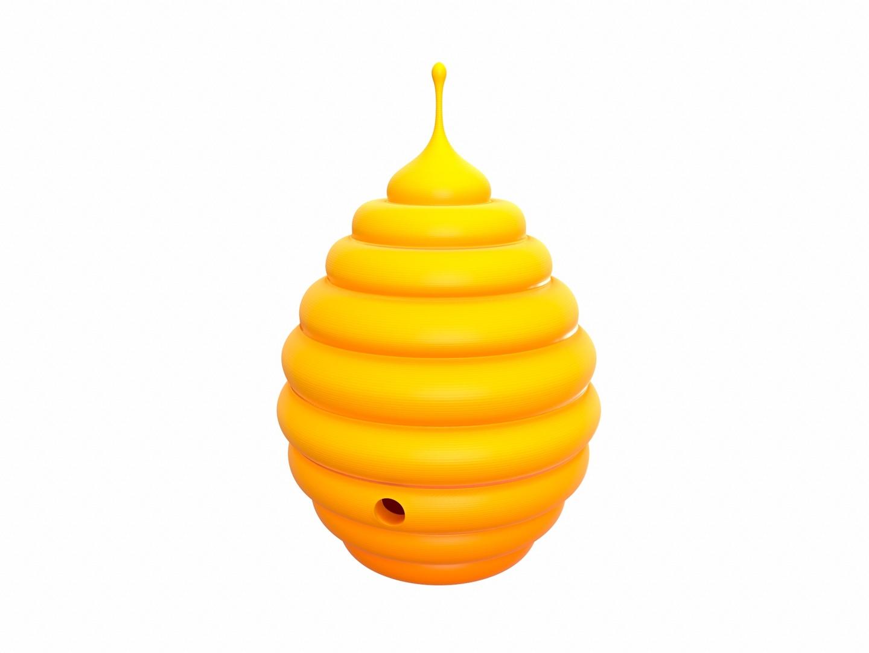 bee hive 3D