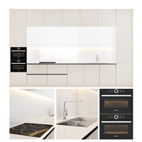 contemporary kitchen scavolini appliances 3D