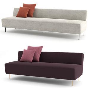 3D modern line sofa