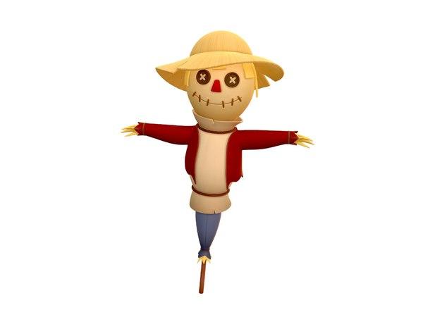 scarecrow cartoon model
