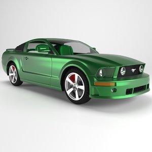 3D car automobile auto model