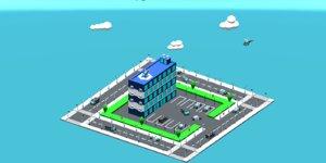 police station package 3D model