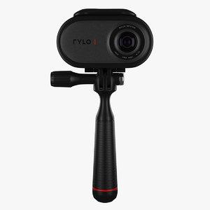 rylo 360 video camera 3D model