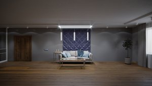 scene loft interior exterior 3D model