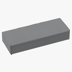 3D bed base 02 grey