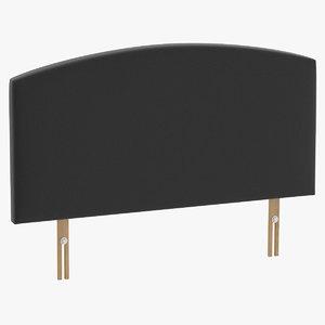headboard 11 charcoal 3D