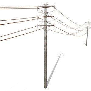 electricity poles model