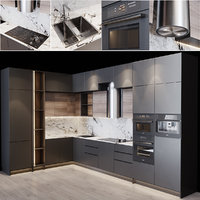 3D kitchen modern interior