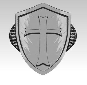 knight templar ring 3D model