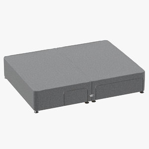 bed base 08 grey 3D