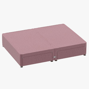 3D model bed base 09 blush