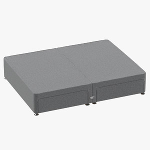 3D bed base 09 grey