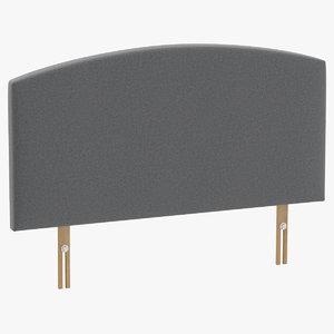 3D headboard 11 grey
