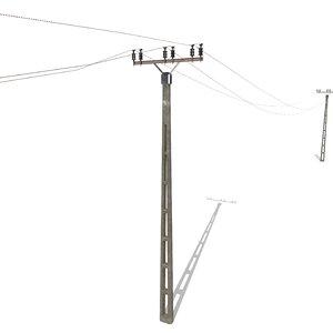 electricity poles 3D