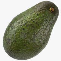 avocado hass 01 3D model