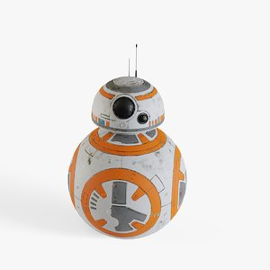 bb-8 modeled 3D