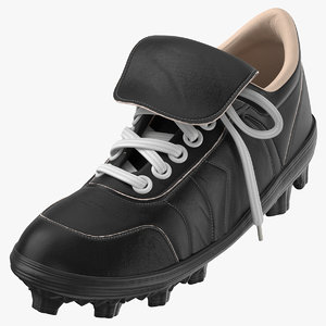 3D baseball cleats black