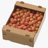 3D cardboard display box apricots