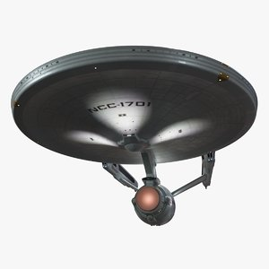 starship enterprise refit 2d 3D model