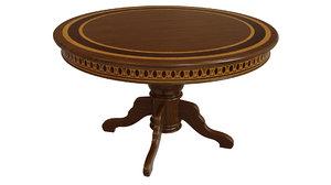wooden table veneers wood 3D model
