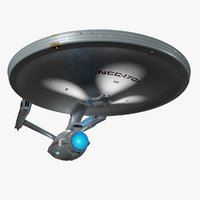 starship enterprise refit interiors 3D model