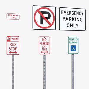 3D parking signs