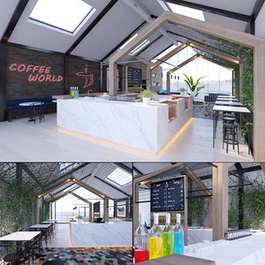 3D coffee house shop model