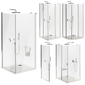 3D shower cabins ravak chrome model