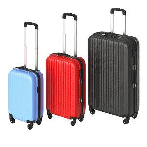 3D model suitcases m s