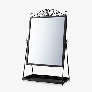 3D dressing table mirror