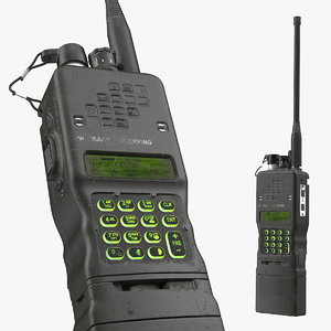 military walkie talkie dirty 3D
