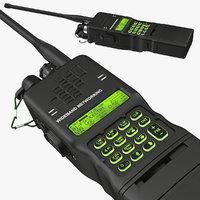3D military walkie-talkie