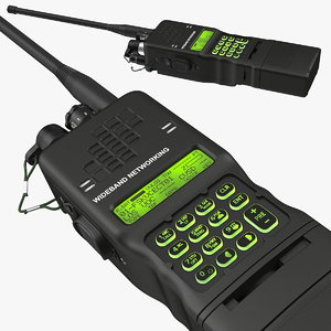 3D military walkie-talkie