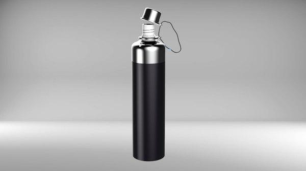 3D model metal water bottle sports