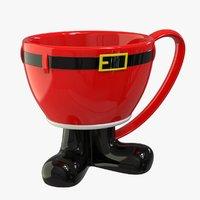 christmas cup mug 3D