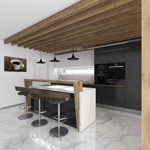 kitchen zsuka1 modern minimall 3D