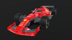 3D formula 2021 concept