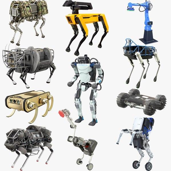 3D boston dynamics robots 2019 model