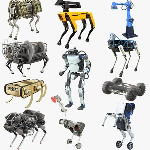 3D boston dynamics robots 2019 model