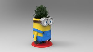 minion flower pot printing 3D model