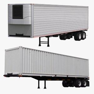 intermodal trailer 3D model