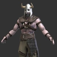 3D viking character