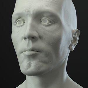 3D male head