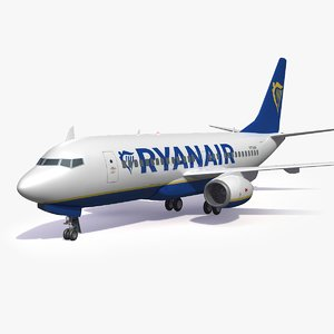 3D ryanair airliner airplane generic
