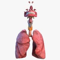 3D human respiratory