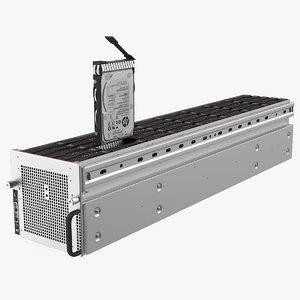 server hdd case 3D model
