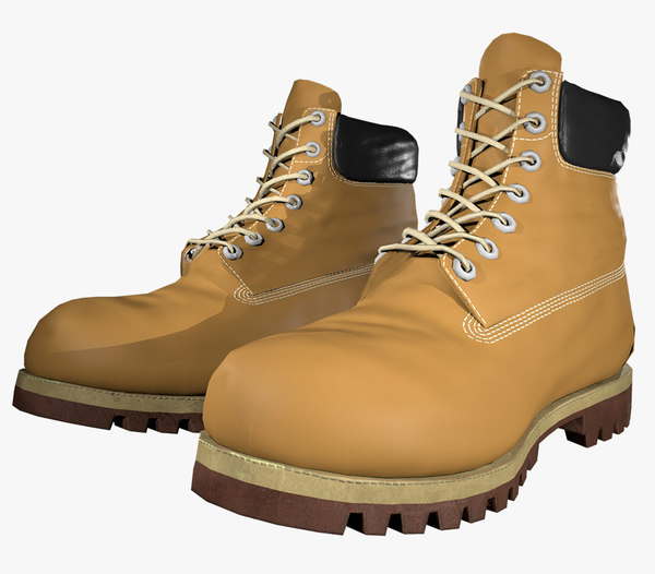 3D yellow timberland boots pbr