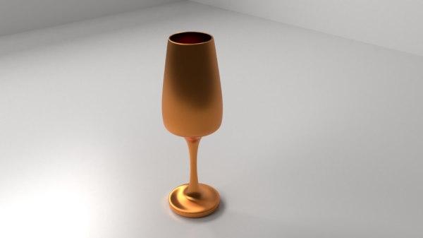 3D model copper goblet