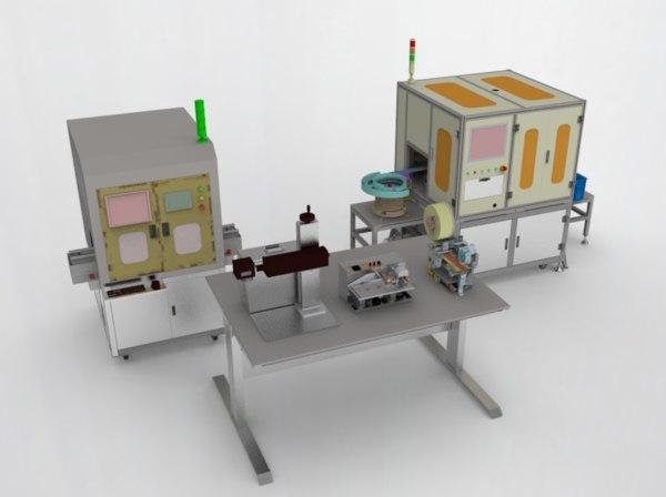 3D laser printer labeling machine model